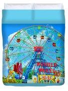 Wonder Wheel Amusement Park 7 Duvet Cover