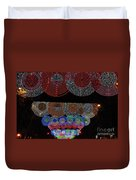 Wonderful And Spectacular Christmas Lighting Decoration In Madrid, Spain Duvet Cover
