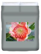 Wonderful Bright Pink Waratah Bud Duvet Cover