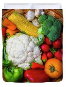 Wonderful Fresh Vegetables Duvet Cover