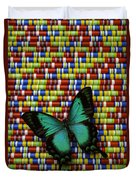 Wonderful Green Butterfly Duvet Cover