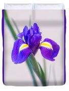 Wonderful Iris With Dew Duvet Cover