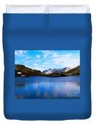 Wonderful Lake San Bernardino In Switzerland. Duvet Cover