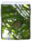 Wonderful Look At A Tree Nymph Butterfly In Foliage Duvet Cover