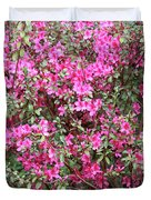 Wonderful Pink Azaleas Duvet Cover
