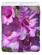 Wonderful Pink Gladiolus Duvet Cover