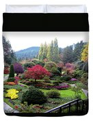 Wonderful Sunken Garden In The Butchart Gardens,victoria,canada 1. Duvet Cover