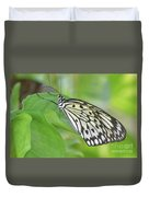 Wonderful Up Close Look At A Large Tree Nymph Butterfly Duvet Cover
