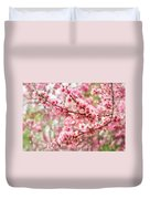Wonderfully Delicate Pink Cherry Blossoms At Canberra's Floriade Duvet Cover