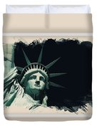 Wonders Of The Worlds - Lady Liberty Of New York 2 Duvet Cover