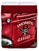 Wong's Garage Duvet Cover