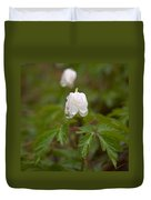 Wood Anemone Heavy From The Rain Duvet Cover