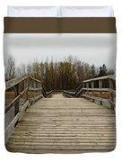 Wood Boardwalk At Valens Duvet Cover