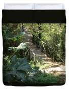 Wood Bridge On A Trail Duvet Cover
