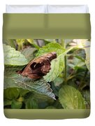Wood Butterfly Duvet Cover
