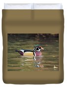 Wood Duck In A Pond Duvet Cover