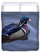 Wood Duck On The Delaware - 06 Duvet Cover