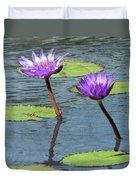 Wood Enhanced Water Lilies Duvet Cover