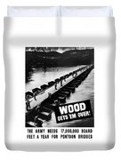Wood Gets 'em Over Duvet Cover