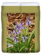 Wood Hyacinth Blue Duvet Cover