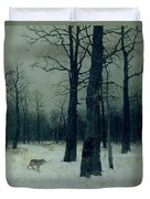 Wood In Winter Duvet Cover by Isaak Ilyic Levitan