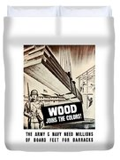 Wood Joins The Colors - Ww2 Duvet Cover