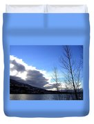 Wood Lake Sunrise Duvet Cover