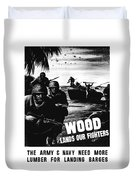 Wood Lands Our Fighters Duvet Cover