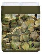 Wood Pile Duvet Cover