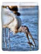 Wood Storks Breakfast Lunch And Dinner Duvet Cover