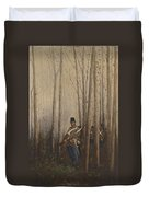 Wood With Soldiers Duvet Cover