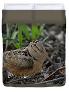 Woodcock In The Woods Duvet Cover
