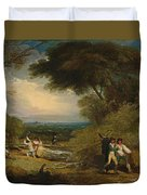 Woodcutters In Windsor Park Duvet Cover