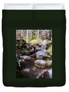 Wooded Blue Brook Duvet Cover