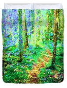Wooded Trail Duvet Cover