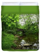 Wooded Valley Of The Patapsco River North Branch Maryland Duvet Cover