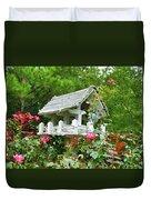 Wooden Bird House On A Pole 4 Duvet Cover