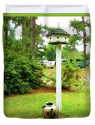Wooden Bird House On A Pole 6 Duvet Cover by Lanjee Chee