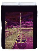 Wooden Boat Moorage Duvet Cover