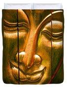 Wooden Buddha Face Duvet Cover