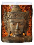 Wooden Buddha Duvet Cover