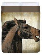 Wooden Carousel Horse Duvet Cover