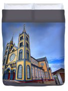 Wooden Cathedral  Duvet Cover