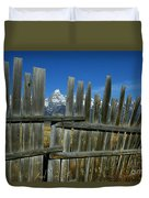 Wooden Fence, Grand Tetons Duvet Cover