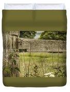 Wooden Fence Post. Duvet Cover