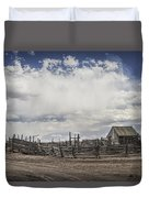 Wooden Fenced Corral Out West Duvet Cover