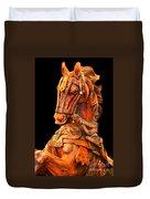 Wooden Horse Duvet Cover
