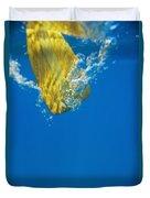 Wooden Paddle Underwater Duvet Cover