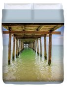 Wooden Pier Stretching Into The Sea Duvet Cover