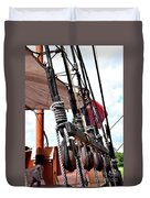 Wooden Ship Blocks And Tackle 13921 Duvet Cover